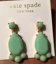 Kate Spade New York Green/Gold 5 stone Earrings in GreenColor- Nwt-