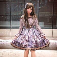 """Neverland soufflesong """"Steam Punk Cat"""" suspender SK Lolita dress + shirt"""