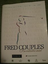 Original Vintage 1997 FRED COUPLES INVITATIONAL Program United Airlines 80 pgs