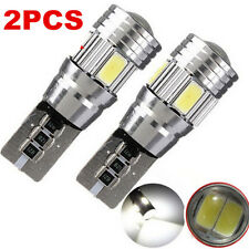 2x T10 White 194 W5W 5630 LED 6 SMD CANBUS ERROR FREE Car Side Wedge Light Bulb