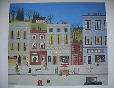 Small Town U.S.A. M. Falco Signed Numbered 967/1000 Litho Print Mike Falco