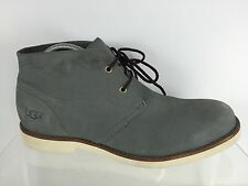 UGG Australia Mens Gray Leather Ankle Boots 10