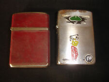 2 Old Vtg Antique Collectible CHAMP Cigarette Lighters Made In Austria