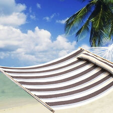 "75""x55"" Double Size Hammock Heavy Duty Wood Spreader Bar Polyester-Cotton N"