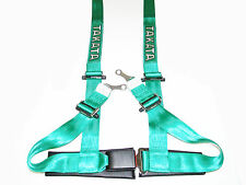 "Takata DRIFT II 4 Point Bolt-On 2"" Racing Seat Belt Harness (Green)"