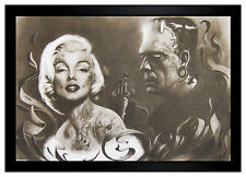 Frankenstein Tattooing Marilyn Monroe 24x36 Framed Poster (E3-1101)