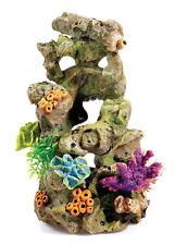 Rock Column with Corals & Plants BiOrb Fish Tank Aquarium Ornament Decoration