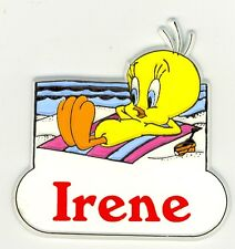 Tweety Bird Name Magnet ~ Irene ~ Looney Tunes Collectible~ Stocking Stuffer