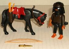 PLAYMOBIL 4248 EGYPTIAN GRAVE ROBBER+ HORSE thief figure set LOOSE MINT COMPLETE