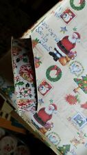 "Vintage Strawberry Shortcake Holiday White Candy Cane ribbon 18ft. 7/8"" craft"