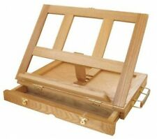 Painting Easel Board - Adjustable Desk Box Portable Mini Wood Drawing Table, NEW