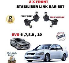 FOR MITSUBISHI EVO 6 7 8 9 10 2.0 1999-  2 X FRONT STABILISER LINK BAR SET