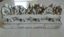THE LAST SUPPER Wall Hanging Plaque Chalkware Plaster BLACK HILLS PASSION PLAY