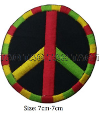 peace symbol sign iron on patch rainbow colours badge  #133