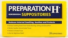 Preparation H Hemorrhoidal Suppositories - 24 Count (3 Pack)