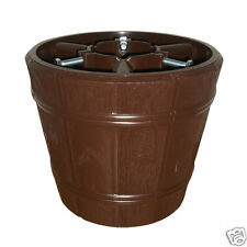 True Barrel Brown Christmas Xmas Tree Stand for Real & Artificial Trees to 8ft