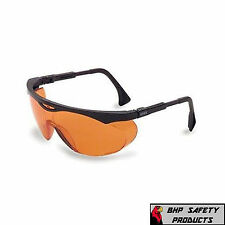 UVEX S1933X SKYPER SAFETY EYEWEAR, BLACK FRAME, SCT-ORANGE UV EXTREME ANTI-FOG