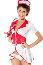Womens Nurse fancy dress costume medic doctor outfit dressing up disguise 8-10 S