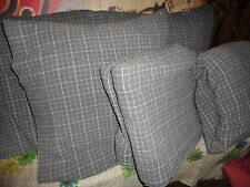 DIVATEX FLANNEL GRAY TAN TATTERSAL PLAID (4PC) KING SHEET SET