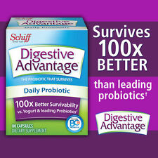 Schiff Digestive Advantage Daily Probiotic, 80 Capsules New...Sealed!!