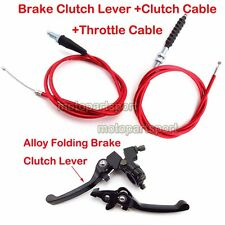 Red Clutch Throttle Cable Brake Lever CRF50 Pit Dirt Bike 90 110 125 150 160 cc