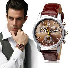 Marrón De Lujo Para Hombres Relojes De Pulsera Cocodrilo Cuero De Caballero