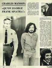 Coupure de Presse Clipping 1975 (1 page) Charles Manson