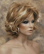 Classy N chic Red Blonde Brown mix flip end Everyday wig Multiple layers lo