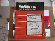 REVUE TECHNIQUE AUTOMOBILE N°264 AVRIL 1968 BE/TBE DAF44 DAF 44