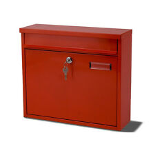 G2 Ouse Red Metal Steel Post Mail Letter Box Postbox Mailbox