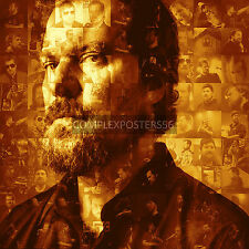 LARGE ORIGINAL PHOTO MOSAIC POSTER IN VARIOUS COLOURS OF JOHN GRANT