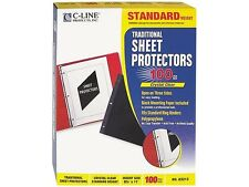 C-line 03213 Side-Loading Sheet Protector, Open On 3 Sides, Standard Weight, Ltr