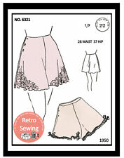 1940s French Knickers Sewing Pattern