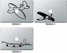"""Airplane Decal Sticker Skin for Apple Mac Book Air/Pro Dell Laptop 13"""" 15"""" 17"""""""