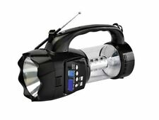 QFX CS-180 Rechargeable Flashlight/Lantern/Speaker w/FM/USB/SD/AUX-In/Recording