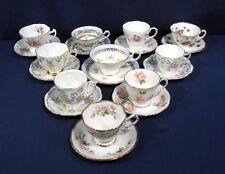 10 English Fine Bone China Tea Cup and + Saucer Sets Hammersley Royal Albert etc