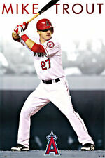 "MIKE TROUT POSTER LOS ANGELES (LA) ANGELS of ANAHEIM      LARGE 24"" X 36"""