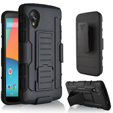 Armor Rugged Hybrid Impact Case Stand Cover Holster For Google LG Nexus 5 D820