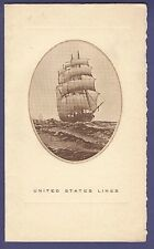 1934 SS Washington - Dinner Menu - United States Lines