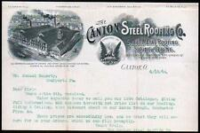 1894 Canton Steel Roofing Co Ohio Sheet Metal Siding Vintage Letter Head Rare