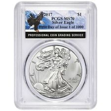 2017 Silver Eagle PCGS MS70 First Day Of Issue 1of 1000