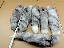 #1 XXL Tanned Blue Frost Fox Tails/Crafts/Real USA Fur Tail/Harley parts/Purse