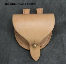 U.S. Civil War Natural Leather Musket Rifle Percussion Cap Pouch Dovetail Repro