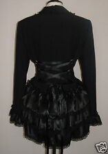 Black gothic corset bustle jacket 16 LINED victorian whitby quirky vampire coat