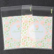 Plastic Resealable Biscuit Bags Sweet Taste Self-Adhesive About 100pcs
