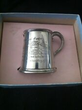 "Sheffield Pewter ""Jack And Jill"" Baby Cup"