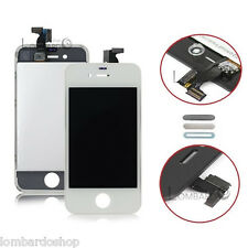 TOUCH SCREEN LCD DISPLAY RETINA FRAME PER APPLE IPHONE 4 4G VETRO SCHERMO BIANCO