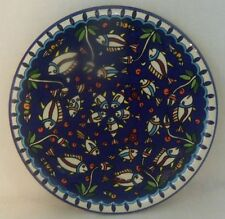 Very Nice Collectible Pottery Plate/Wall Hanging - Handpainted Fish