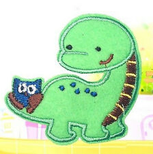 FD2694 Green Dinosaur Embroidery Cloth Iron On Patch Sewing Motif Applique DIY