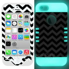 Chevron Waves Tribal Aztec w/ Glow in the Dark Cover Case for Apple iPhone 5 5S